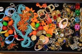Grouping Of Beaded & Rhinestone Costume Jewelry