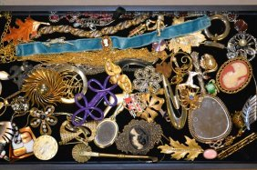 Tray Of Assorted Costume Jewelry