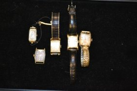 Five Elgin Wrist Watches