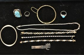 Vintage Sterling Silver And Turquoise Jewelry