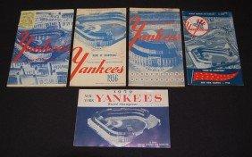 5 Yankees 1950's Programs