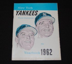 1962 New York Yankees World Champions Yearbook