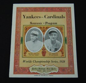 1928 Yankees Vs Cardinals Souvenir Program