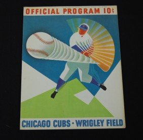 1962 Chicago Cubs Official Program