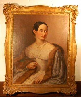 Jac Ginzel Oil On Canvas Portrait