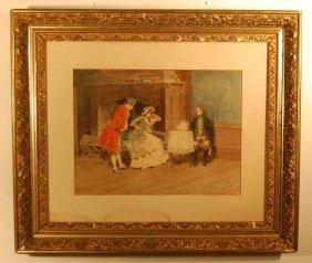 Leon Moran (1864-1941) Watercolor