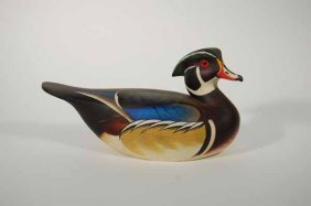 Rare Leo McIntosh Wood Duck Decoy