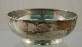 "Sterling Silver 7"" Diameter Bowl"