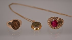 2 Gold St. Lawrence University Rings & Pendant
