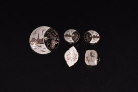 Sterling Silver And White Enameled Siam Jewelry