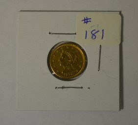 1878 U.s. $2 1/2 Gold Coin