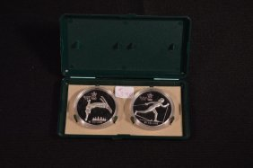 2 Canadian $20 Silver 1988 Winter Olympic Coins