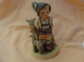 Hummel Figurine: Little Goat Herder; #200/0 T