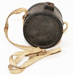 PRE CIVIL WAR WOOD CANTEEN WITH PROVENANCE