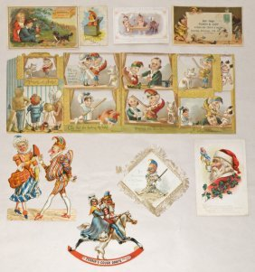 NINE PUNCH & JUDY PAPER ITEMS