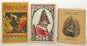 THREE OLD PUNCH & JUDY BOOKS