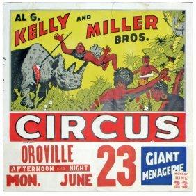 232 Circus Posters 2 Al G Kelly Miller Bros Gi Lot 232