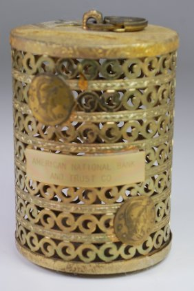 ANTIQUE BRASS BANK