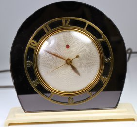 ART DECO TELECRON GLASS CLOCK 1930's