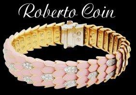 Roberto Coin 18k R W G P Enamel 2.01 Tcw Diamond Cobra