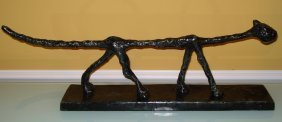 Diego Giacometti Swiss Large Bronze Of Cat