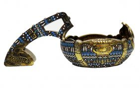 Beautiful Large Russian Silver Enamel Kovsh