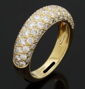 Cartier 18k Yellow Gold Diamond Wedding Band Ring