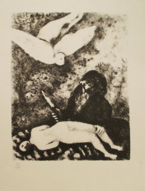 Marc Chagall Le Sacrifice D` Abraham Heliogravure 1956