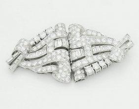 Cartier 1920s Platinum 6.00 Tcw Vvs/vs Diamond Pin