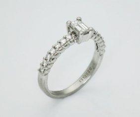 Morelli Platinum 950 0.55 Ct Tcw Vs F Emerald Cut Ring