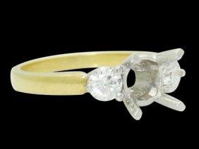 18k 2 Tone Gold 0.50 Ct Tcw G-h Vs Diamond Engagement