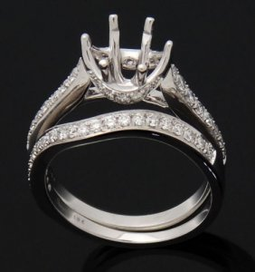 Simon G. 18k Gold 0.53 Ct Tcw Diamond Engagement Ring &