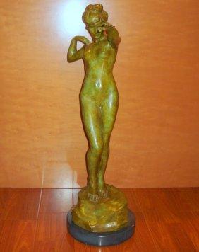 "Harriet Frishmuth American Bronze ""the Leaf"