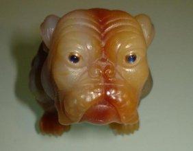 Russian Hardstone Figure Of Dog