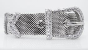 Tiffany & Co Plat 950 Brilliant Diamond Buckle Bracelet