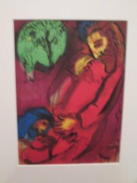 Marc Chagall Lithograph David Et Absalon