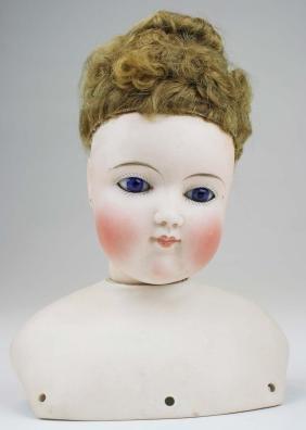 German Closed Mouth Bisque Fashion Doll Head