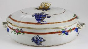 Chinese Export Covered Vegetable Dish- Descending From