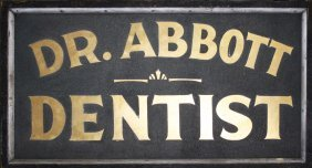 "Vermont Sanded Painted Double Sided Wooden Sign ""dr"