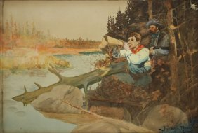 Frederic Remington (american 1861-1909) Calling In