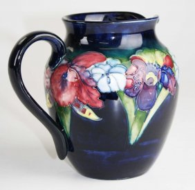 Moorcroft Art Pottery Pitcher With Iris Floral