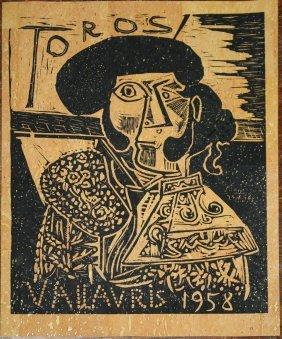 Pablo Picasso (spanish 1881-1973) Toros Vallauris 1958-