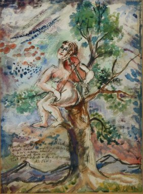 David Burliuk (russian 1882-1967) Teach Us Spirt Of
