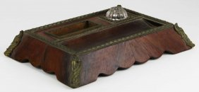 French Ormolu Mounted Desk Top Writing Stand, Length