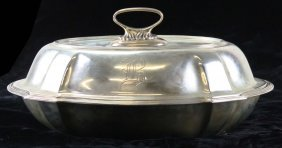 Sterling Covered Serving Dish. Marked Sterling D266.