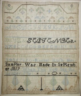 "Early 19th C Schoolgirl Sampler ""rachel Rush Her"