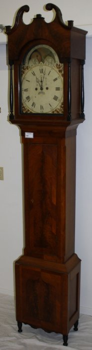 Pennsylvania Sheraton Tall Case Clock With Banded