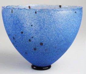Kosta Boda Bertil Vallien Studio Glass Bowl, Signed &