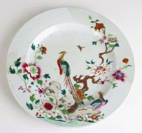 18th C Chinese Export Porcelain Charger With