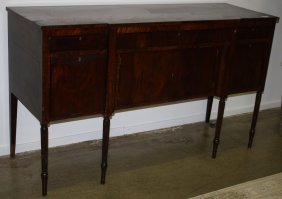 "19th C Massachusetts Sheraton Mahogany Sideboard. 72""w"